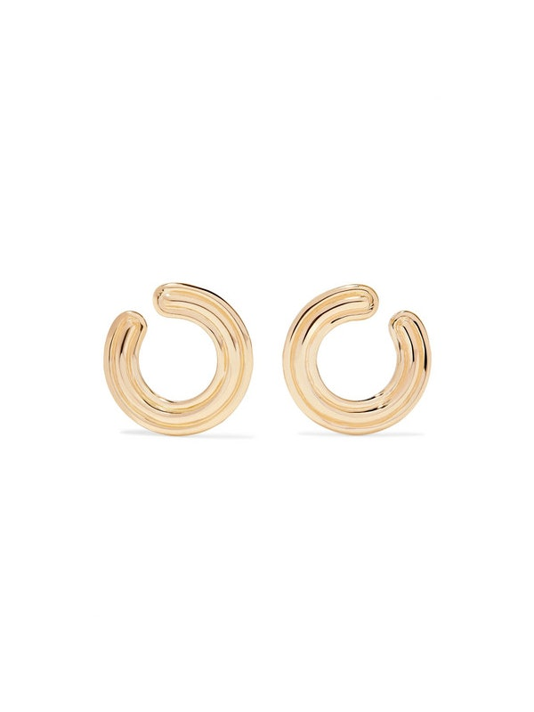 SWAROWSKI CRYST MARQ SHAPE EAR//BLK DIA Hoop Earrings