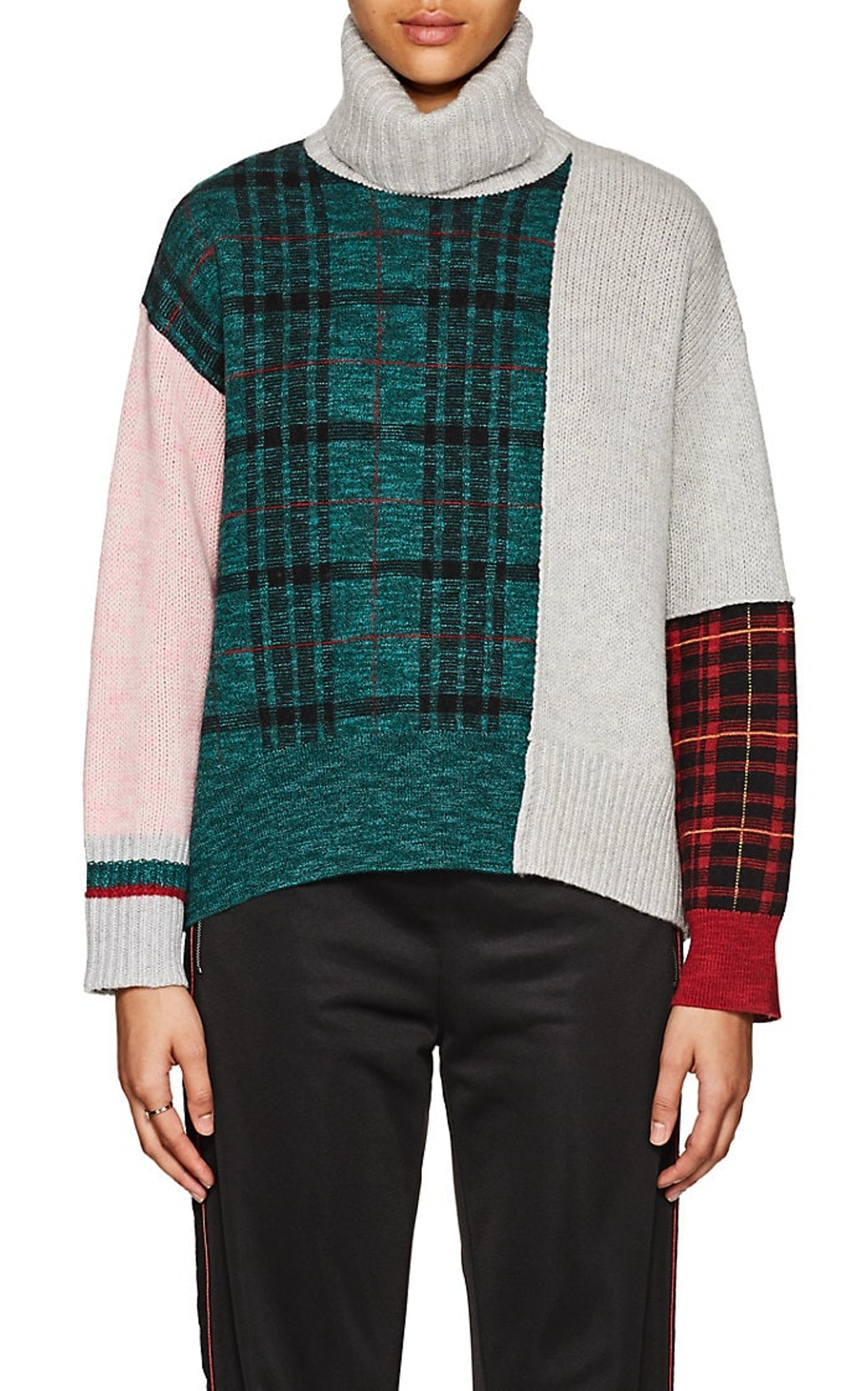 Tomorrowland Colorblocked Wool-Blend Turtleneck Sweater