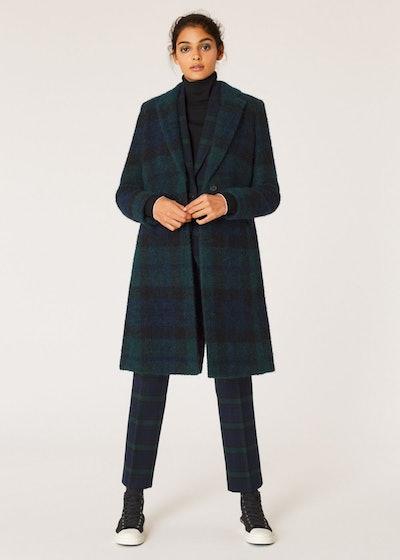 Paul Smith Women's Blackwatch Tartan Bouclé Epsom Coat