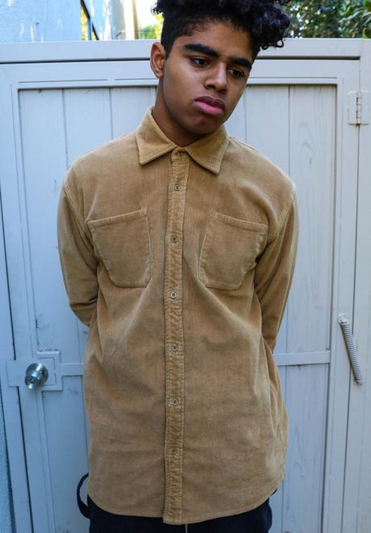Chaz Corduroy LS Shirt - Camel
