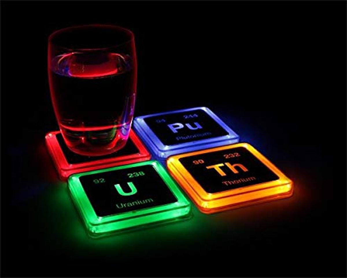 ThinkGeek Glowing Coaster Set