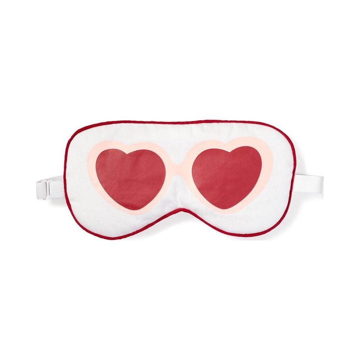Petite Plume Adult Heart-Shaped Sunnies Eye Mask