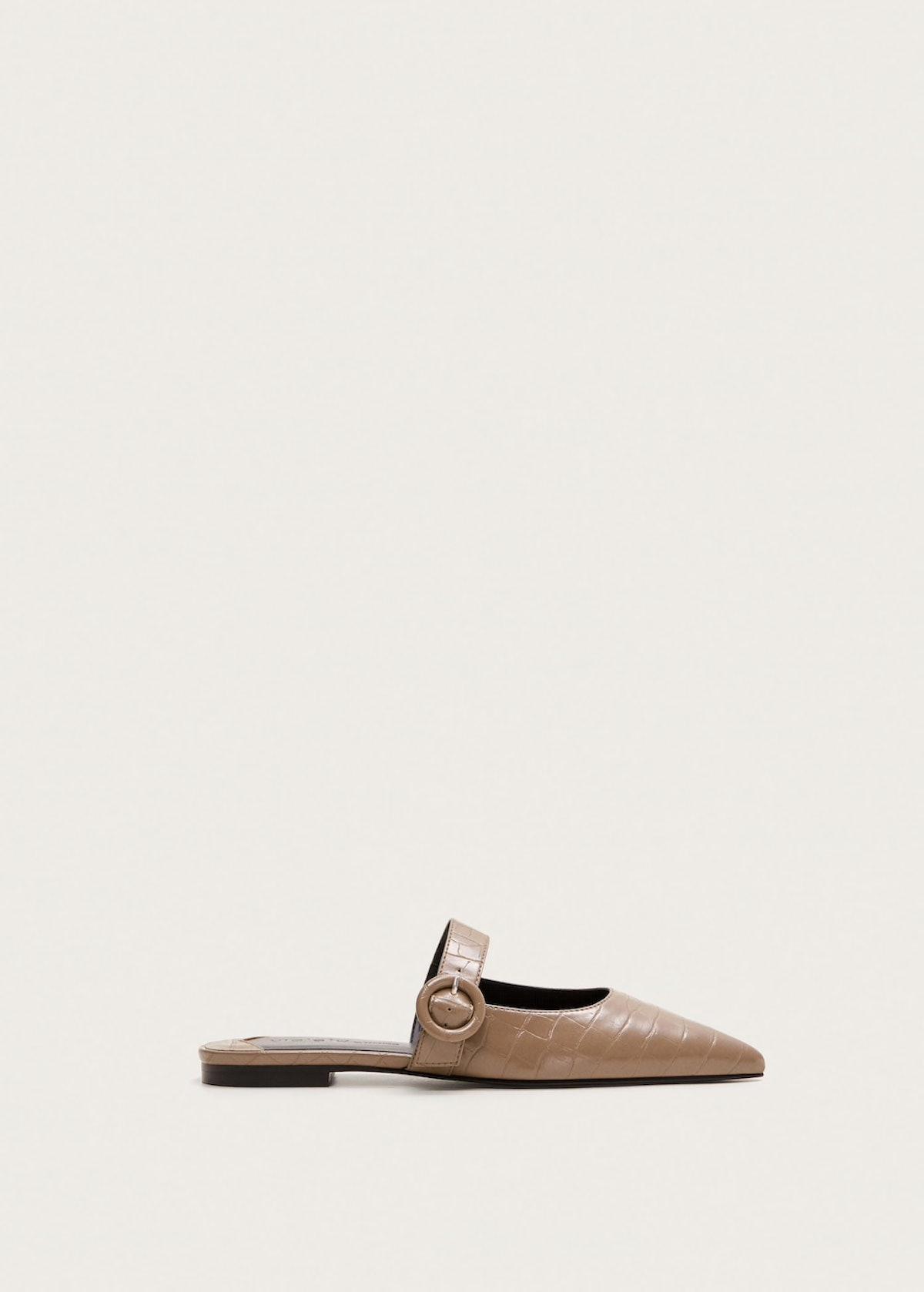Croc-Effect Shoes