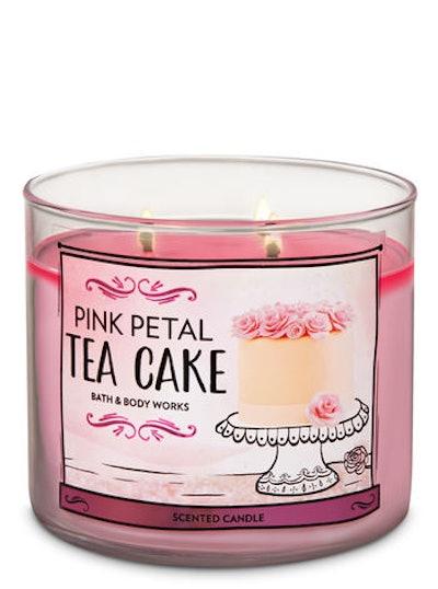 Pink Petal Tea Cake 3-Wick Candle