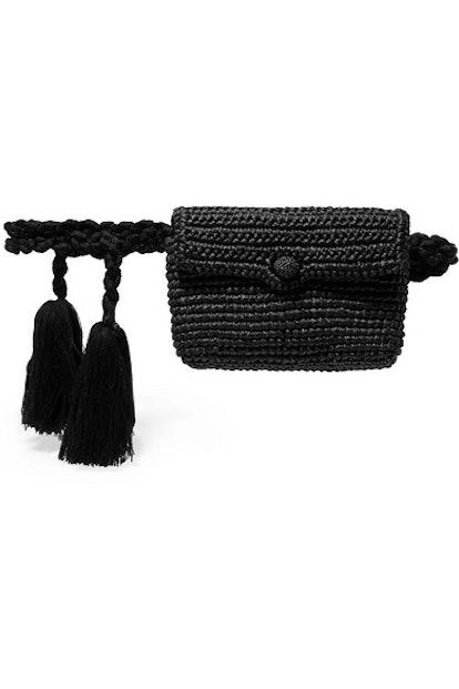 Tasseled Toquilla Straw Belt Bag
