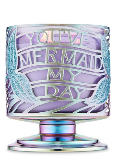 You've Mermaid My Day 3-Wick Candle Holder