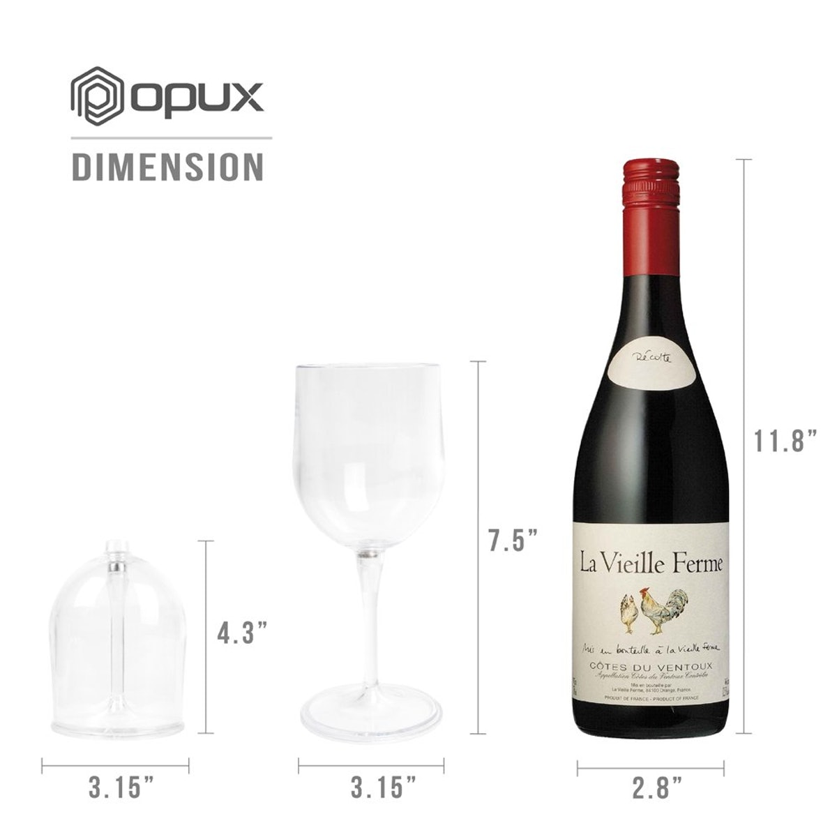 OPUX Portable And Collapsible Wine Glass