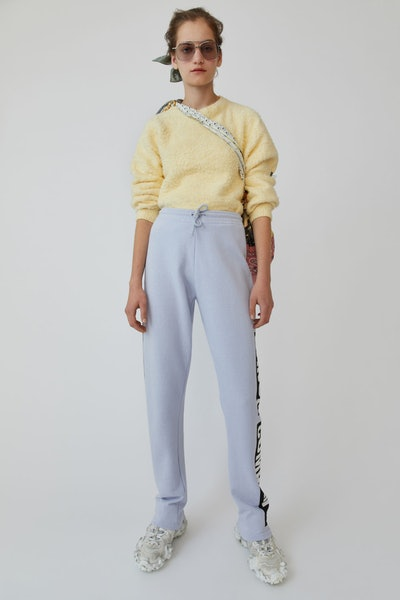 Printed Sweatpants Pale Blue