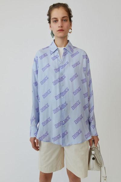 Printed Shirt Light Blue/Lilac