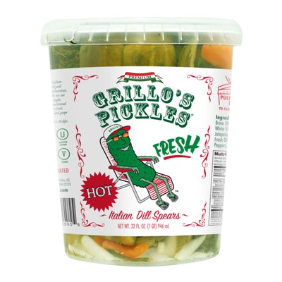 Grillo's Hot Italian Dill Pickle Spears
