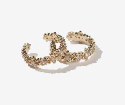 Neville Gold Crystal Ear Cuff Set