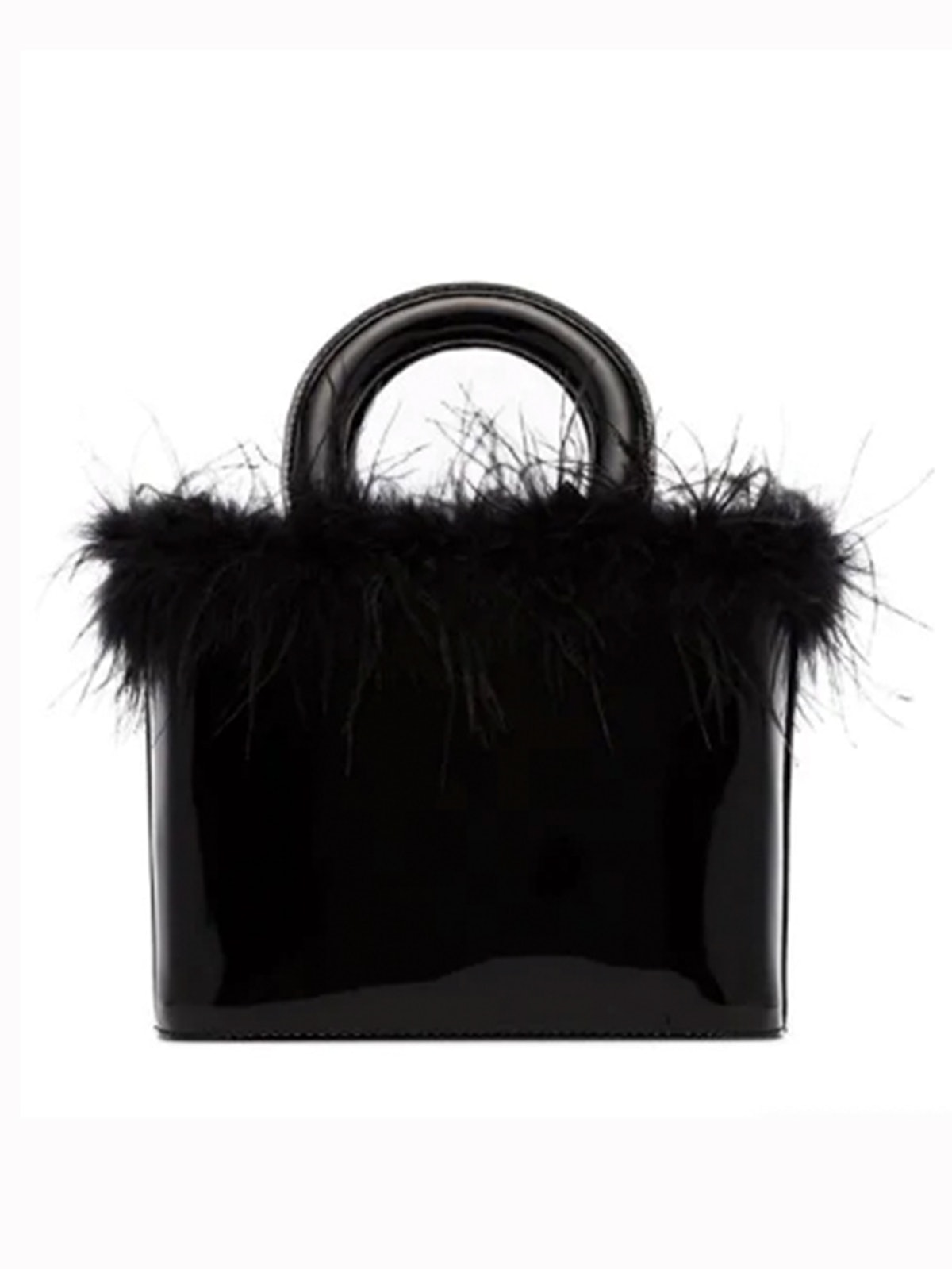 Black Nic Patent Leather Tote