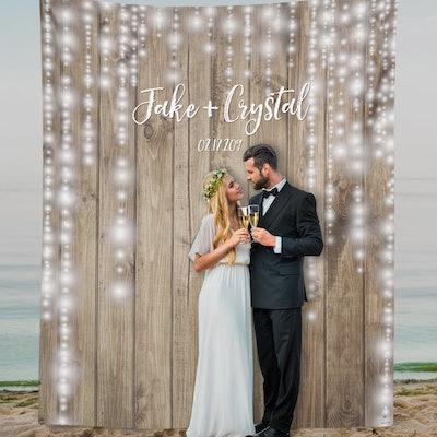 Rustic Wood Wedding Backdrop