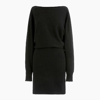Dolman-Sleeve Sweater Dress