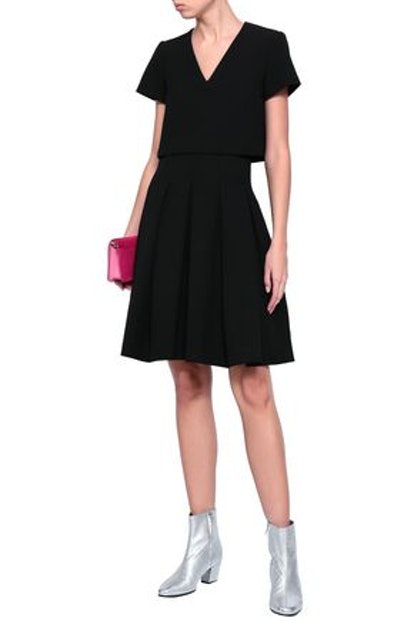 Rozane Layered Pleated Stretch-Crepe Dress