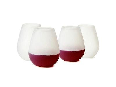 Brovino Silicone Glasses (Set of 4)