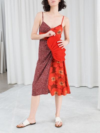 Duo Print Midi Dress