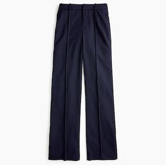 Wool Flannel Full-Length Trouser