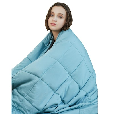 YnM Cooling Weighted Blanket, 60 by 80 inches, 20 pounds