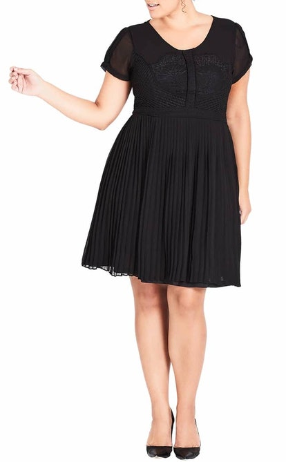 Allure Pleated Fit and Flare Dress