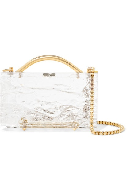 L'Afshar Eugene Crushed Ice Acrylic Clutch