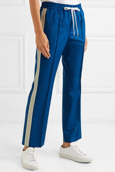 Striped Wool And Mohair-Blend Track Pants
