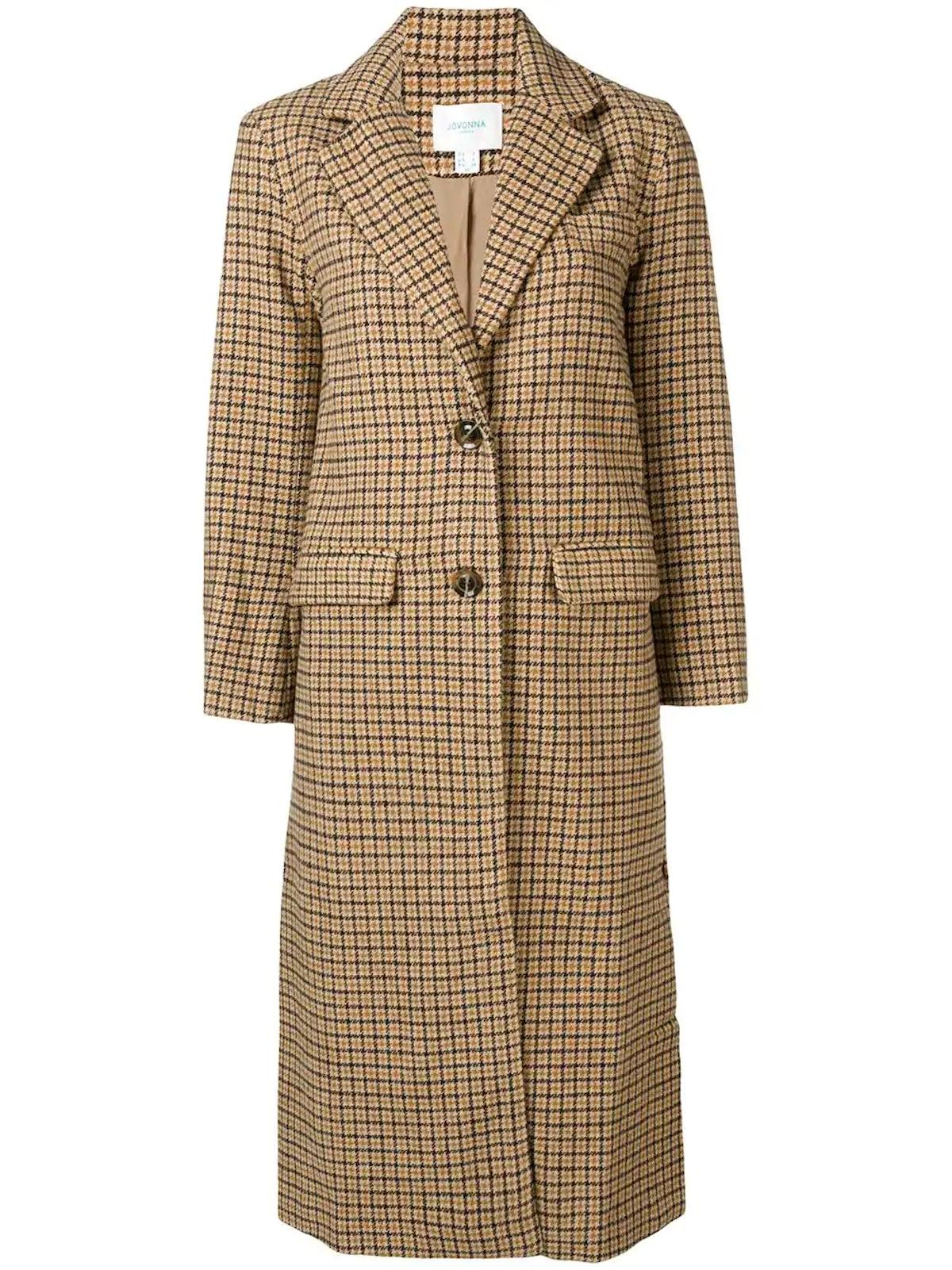 Arlette Checked Coat