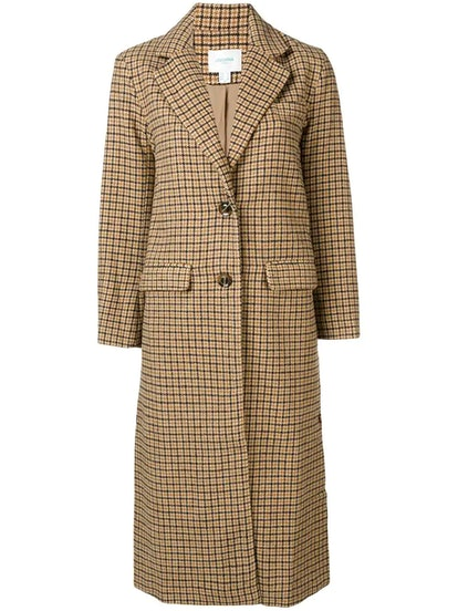 Arlette Checked Coat