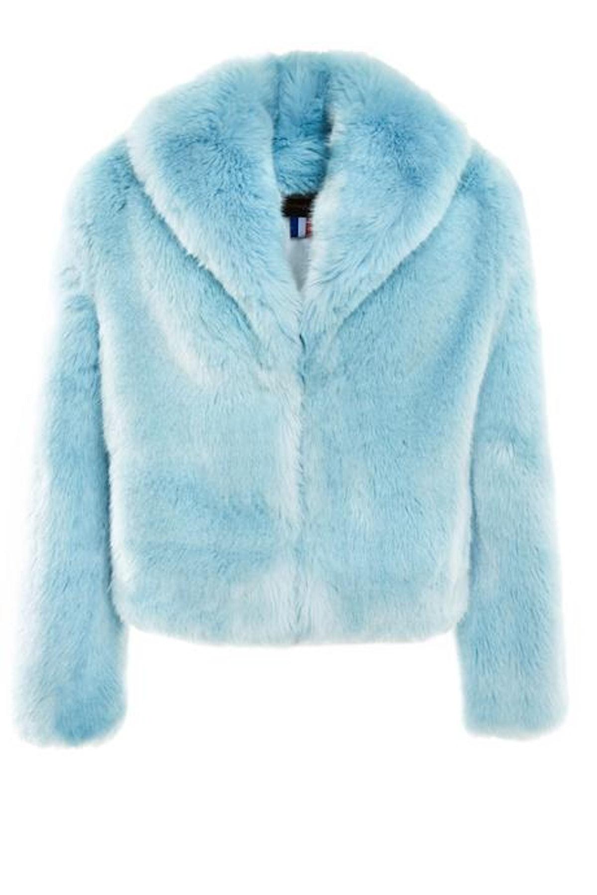 Erelle Blue Heaven Faux Fur Jacket