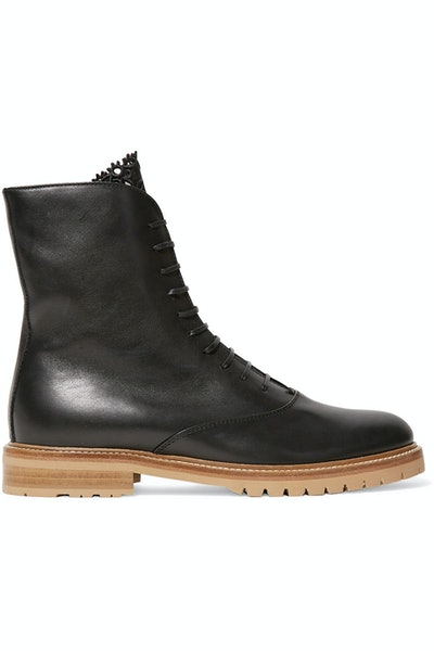 Ruben Leather Combat Boots