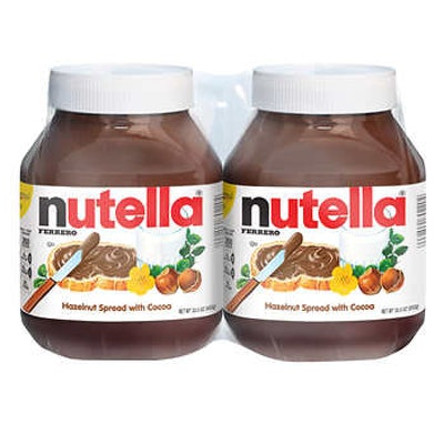 Nutella Hazelnut Spread 33.5 oz, 2-count