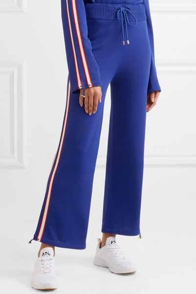 Salute Striped Knitted Track Pants
