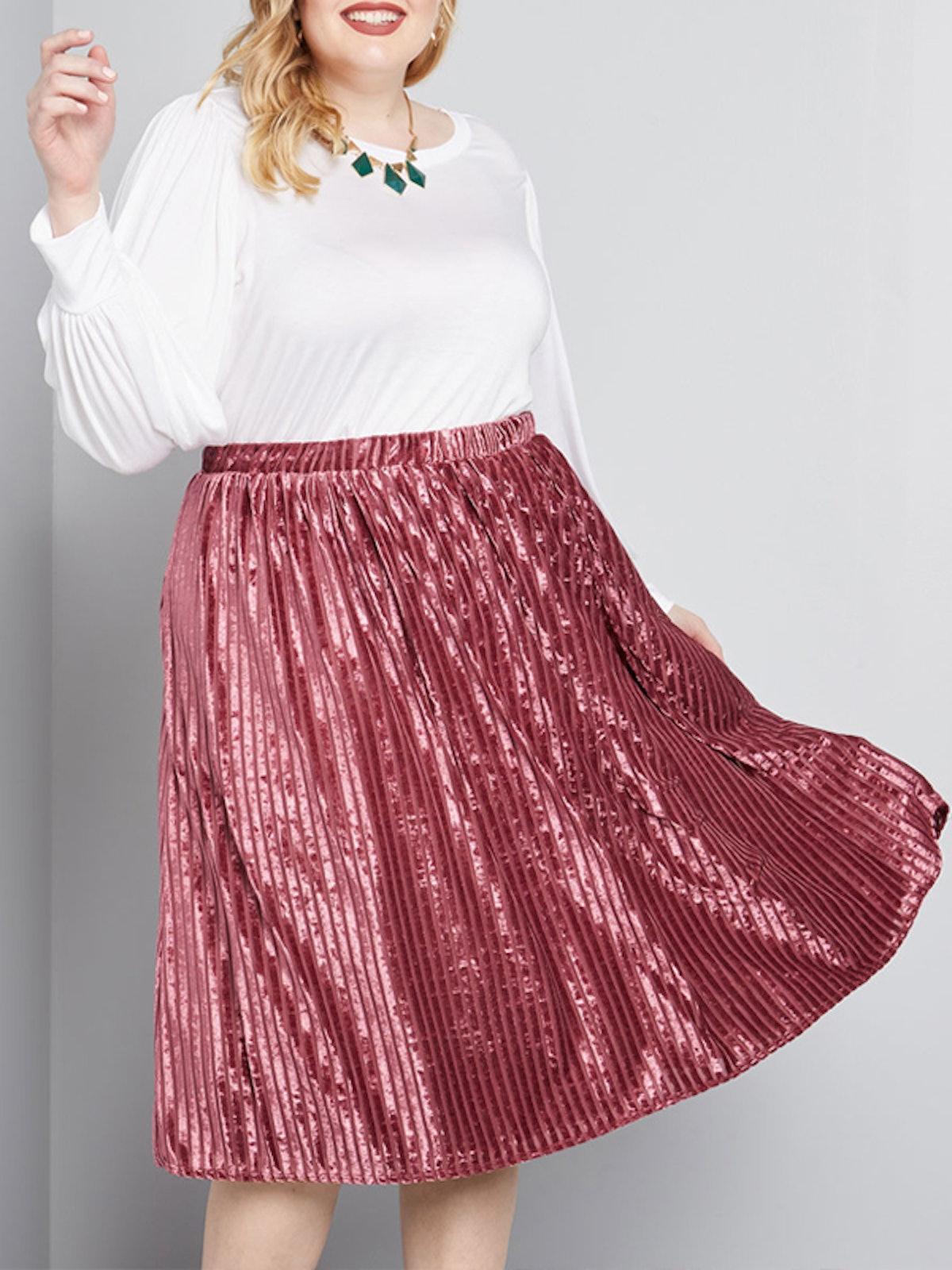 Simply Stylish Velvet Midi Skirt