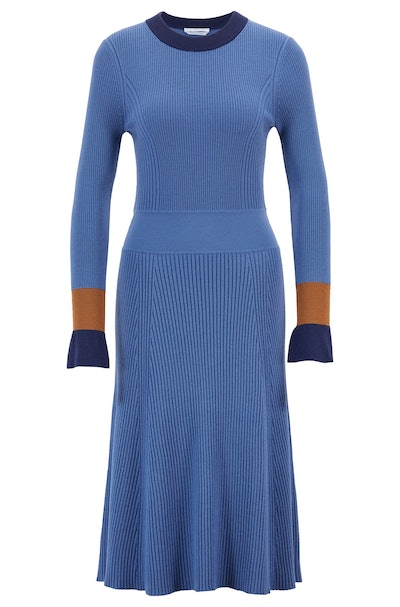Knitted Color-Block Dress