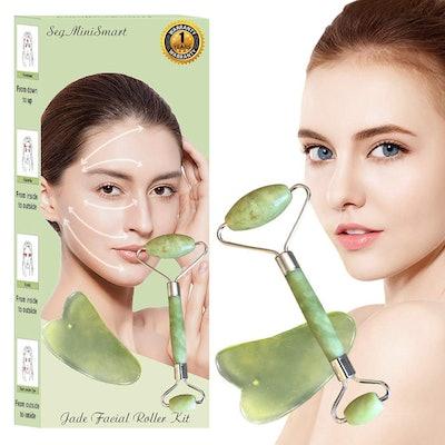 Jade Roller Massager Kit