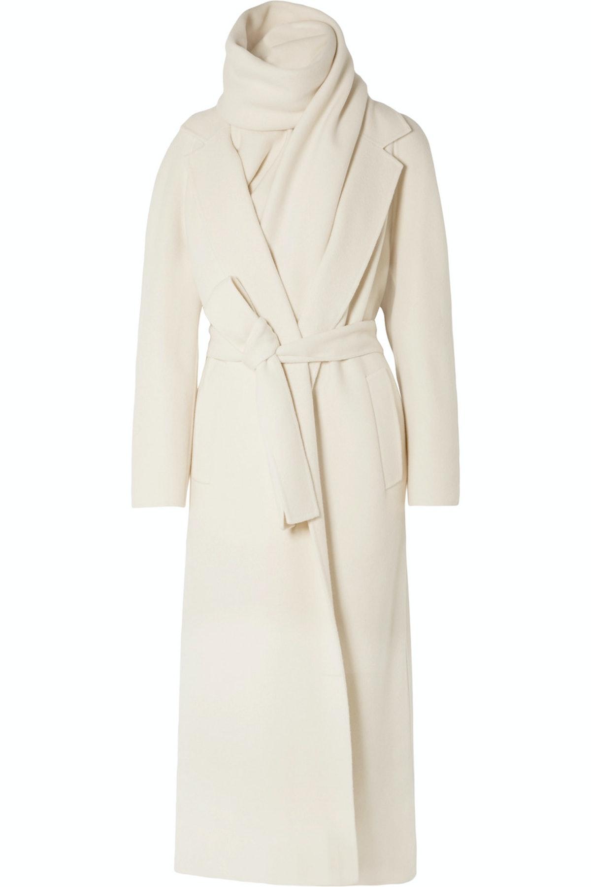 Tooman Cashmere Blend Scarf Coat
