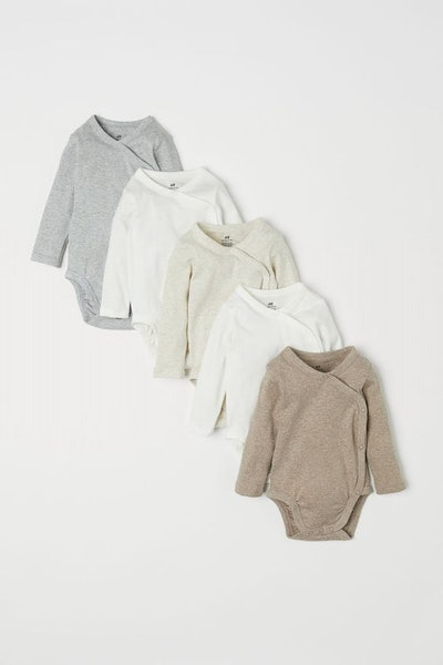 5-pack Wrapover Bodysuits