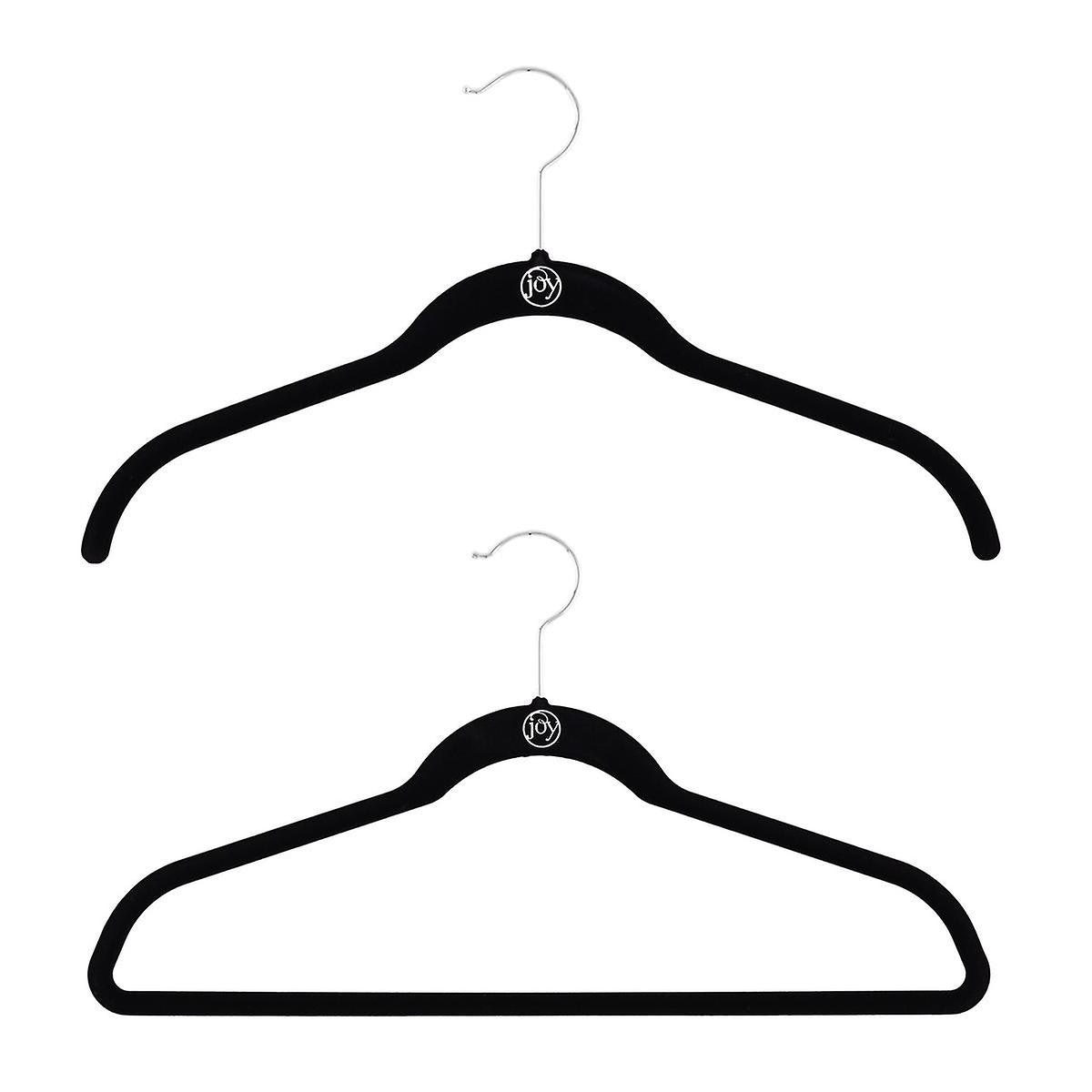 Joy Mangano Black Huggable Hangers Case of 40