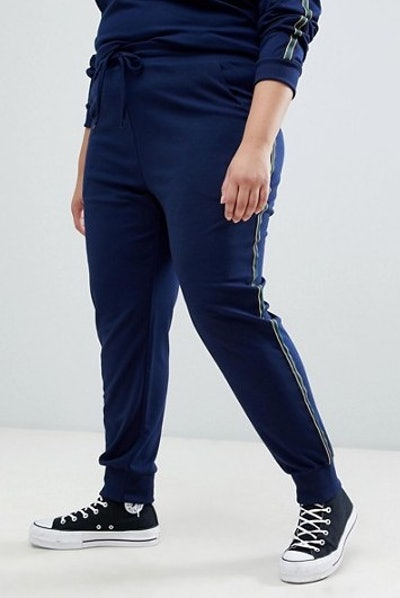 Presely Jersey Track Pants With Side Stripe