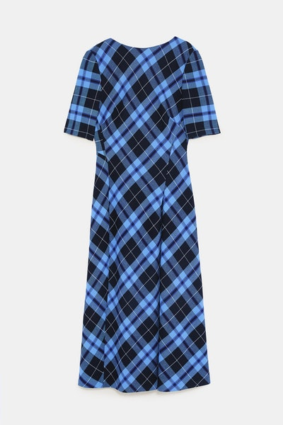 Plaid Print Dress