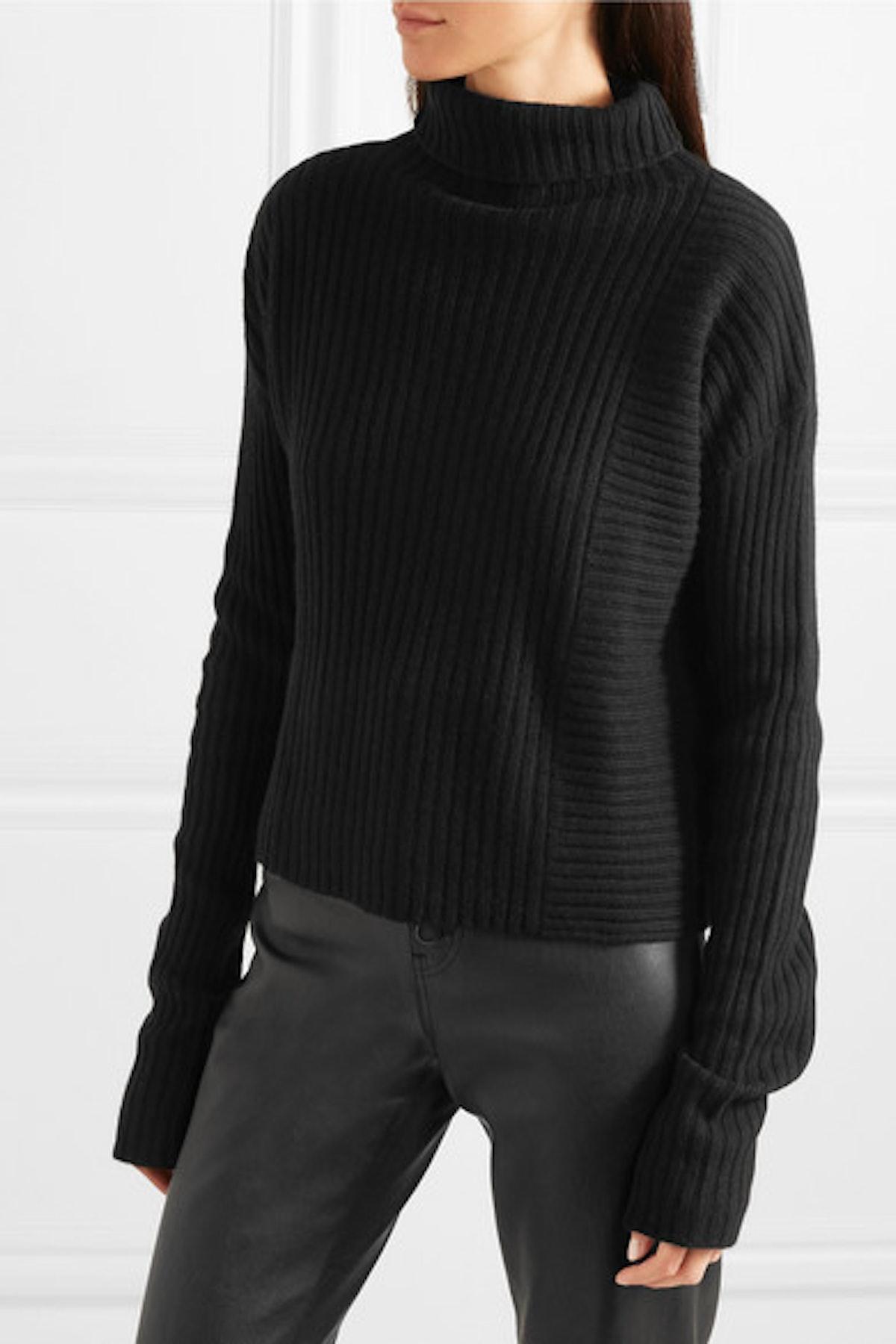 Batik Ribbed-Knit Turtleneck Sweater