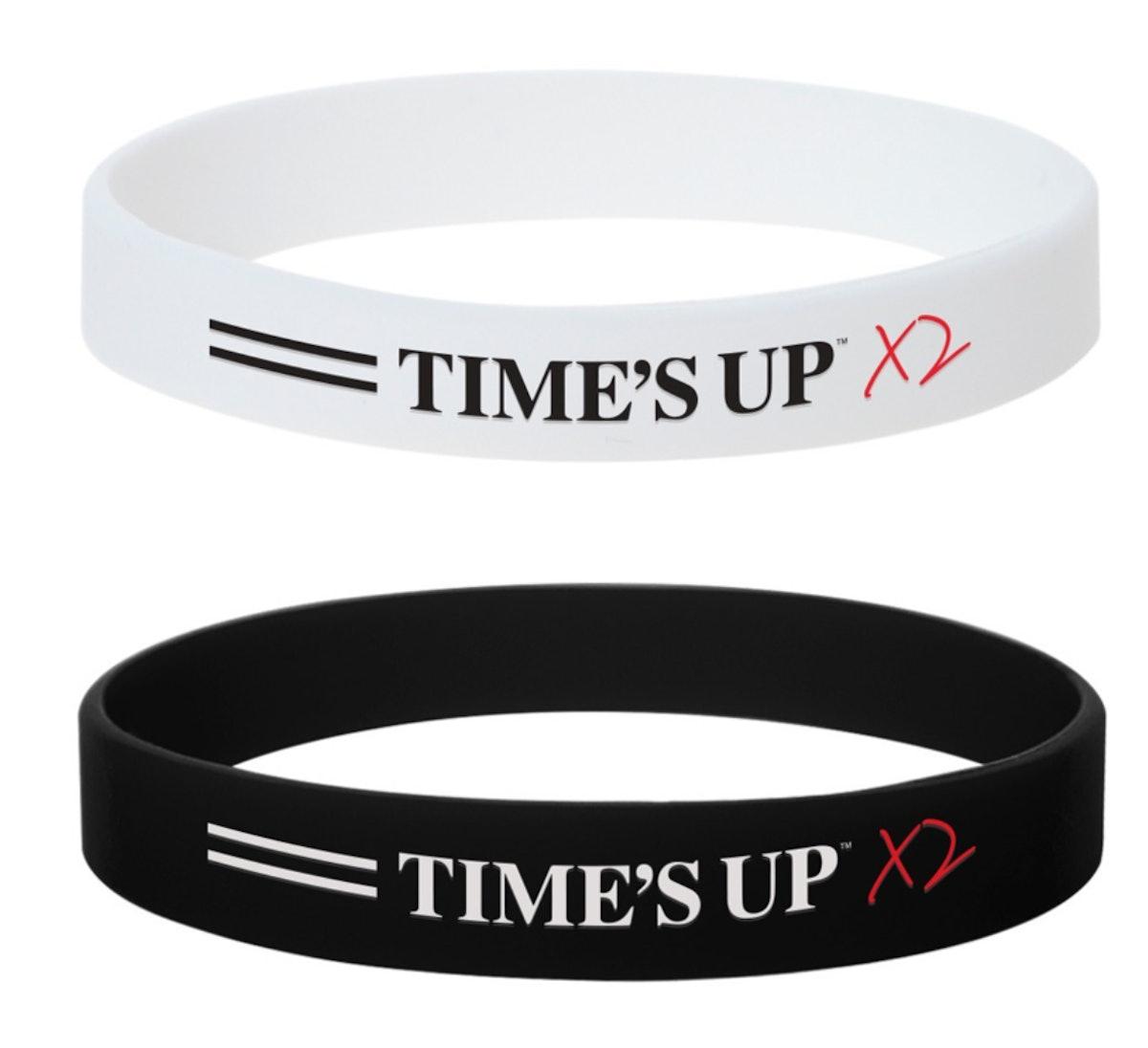 Time's Up x2 Silicon Bracelets