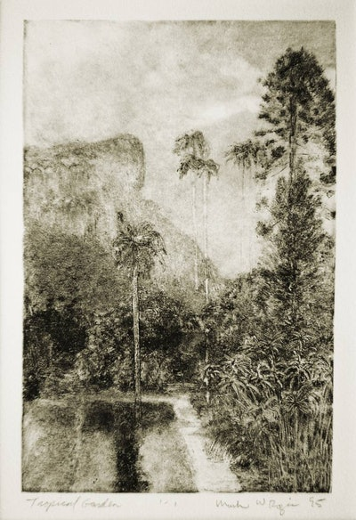 Tropical Garden Print By Mark Rozic