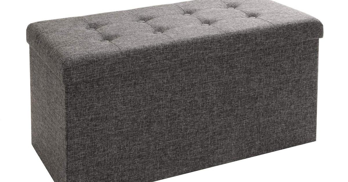 Fine Seville Classics Foldable Storage Bench Ottoman Machost Co Dining Chair Design Ideas Machostcouk