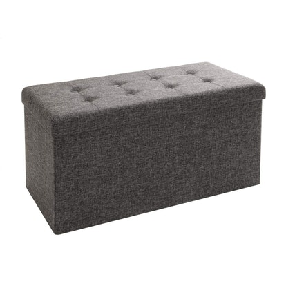 Seville Classics Foldable Storage Bench Ottoman