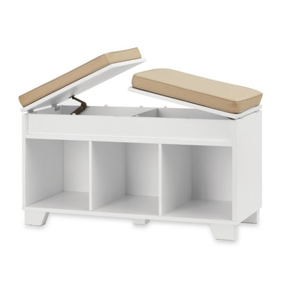 Real Simple 3-Cube Split-Top Storage Bench