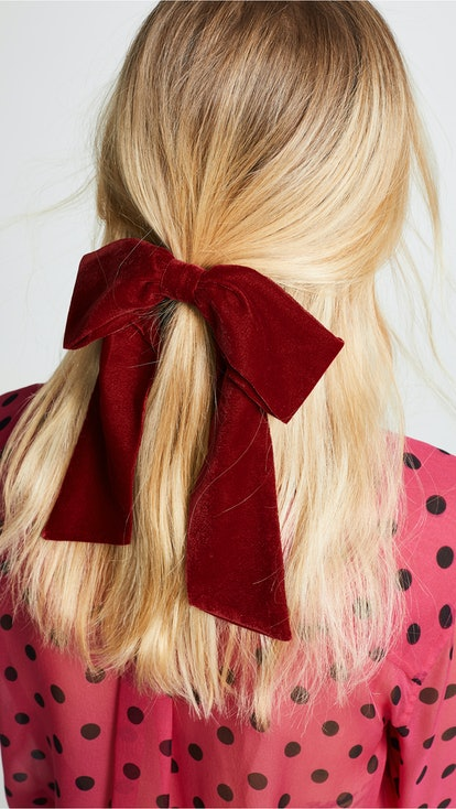 Velvet Bow Pony Holder