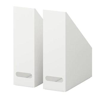 KVISSLE Magazine File, Set Of 2, White