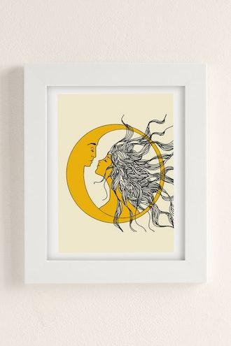 Nadja Sun And Moon Art Print