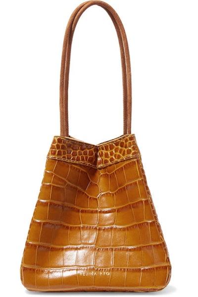 Rejina Pyo Croc-Effect Leather Bucket Bag